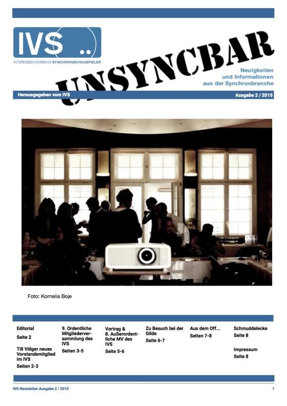 Unsyncbar – Ausgabe 2 / 2015