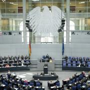 Blick in den Plenarsaal, Foto: Deutscher Bundestag / Marc-Steffen Unger